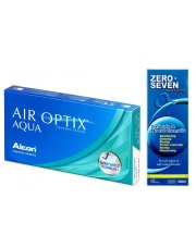 Air Optix Aqua 6szt. plus Zero Seven 360ml