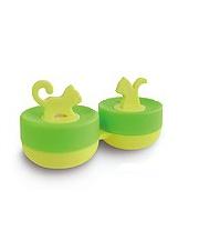 Pojemnik do soczewek Qcase - zielony kotek